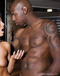 Raunchy Melaine seduces...