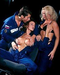Three horny chicks in...