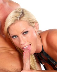 Blond Cassie Young sucking...