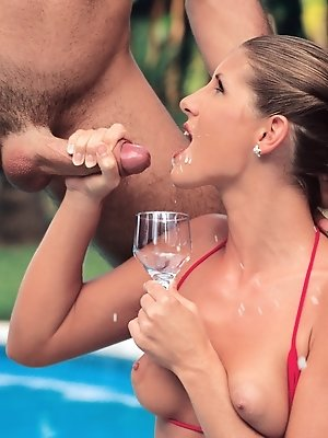 Hot wife enjoys the...