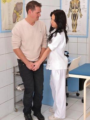 Naughty Nurse Ball Licking...