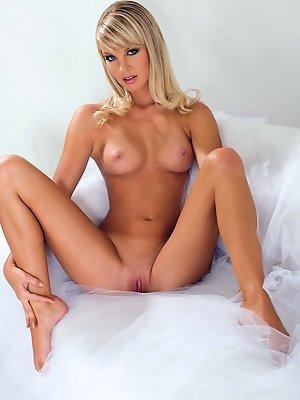 Elegant blonde angel with a...