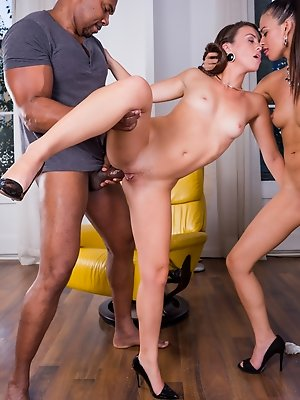Interracial threesome with...